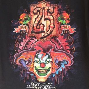 Halloween Horror Nights 25 T-Shirt graphics front